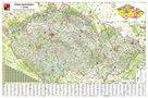 Obří nástěnná mapa Česká republika 250