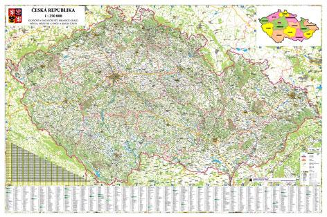 Obří nástěnná mapa Česká republika 250 - 2x1,35 metrů, Sleva 15%, Doprava zdarma