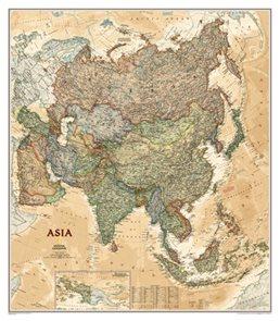 Nástěnná mapa Asie National Geographic