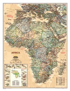 Mapa Afrika National Geografic