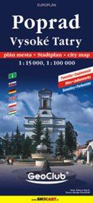 Poprad Vysoké Tatry plán města 1:15, 1:100