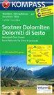 Mapa Sextenské Dolomity Kompass 1:25 tis.