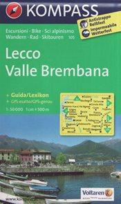 Mapa Lecco Valle Brembana Kompass 1: 50 tis.