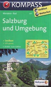 Mapa Salzburg und Umgeburg Kompass 1: 25 tis.