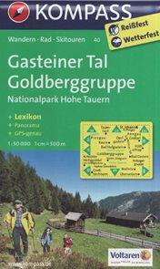 Mapa Gasteiner Tal Goldberggruppe Kompass 1: 50 tis.