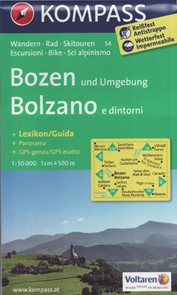 Mapa Bozen, Bolzano Kompass 1: 50 tis.