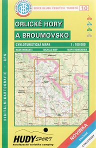 KČT Orlické hory a Broumovsko cyklomapa
