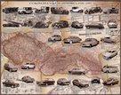 Československé automobily 1918-1992 nástěnná mapa