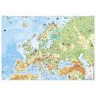 Dětská mapa Evropy - nástěnná mapa