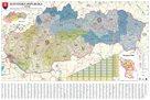 Slovensko - nástěnná mapa PSČ 135 x 90 cm