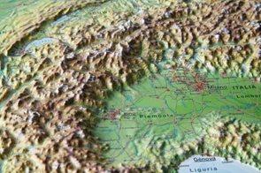 Alpy - plastická reliéfní mapa 80x60 cm