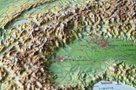 Alpy rámovaná reliéfní plastická mapa 1:1 200 000