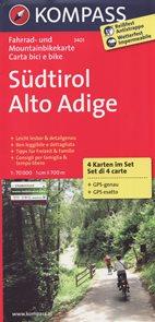 Cyklo Südtirol Alto Adige Kompass set 4 map
