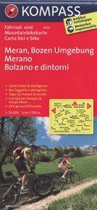 Cyklo Meran, Bozen Merano, Bolzano Kompass 3414
