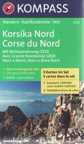 Korsika sever set 3 map Kompass
