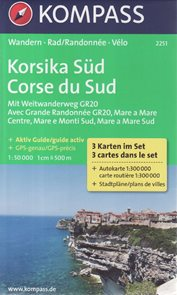 Korsika jih set 3 map Kompass
