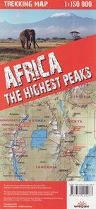 Afrika nejvyšší vrcholy trekkingová mapa 1: 150t