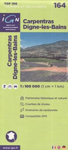 Carpentras Digne-les-Bains 1:100 000 Cyklomapa IGN