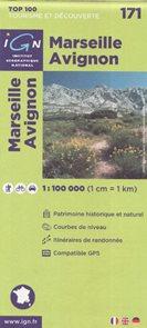 Marseille Avignon 1:100 000 Cyklomapa IGN