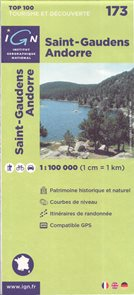 Saint-Gaudens Andorre 1:100 000 Cyklomapa IGN