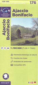 Ajaccio Bonifacio 1:100 000 Cyklomapa IGN