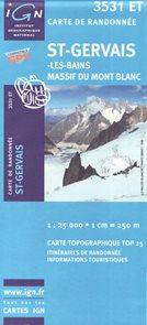 St.Gervais-Les Bains 1:25 000 turistická mapa IGN