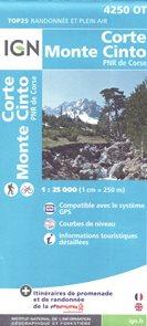 Corte-Monte Cinto 1:25 000 turistická mapa IGN