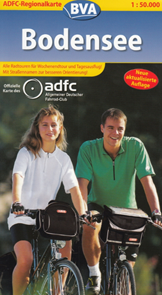 Bodensee 1:50.000 cyklomapa ADFC
