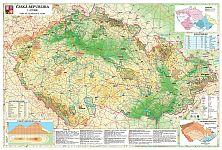 ČR obecně zeměpisná mapa 140 x 100 cm - 140x100 cm