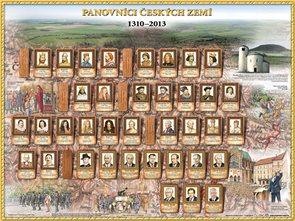 Panovníci Českých zemí II. - 1310 - 2013 - mapa na stůl