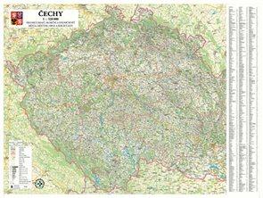 Čechy - nástenná mapa 1: 320 000