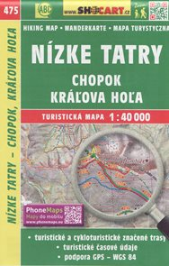Nízké Tatry, Chopok, Káľova Hoľa 1:40 000