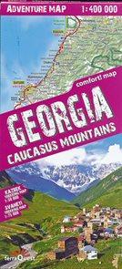 Gruzie - vybrané trekky trekkingová mapa TQ
