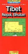 Tibet, Nepal mapa