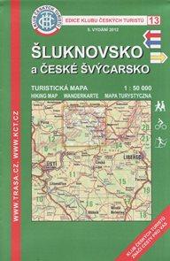 Šluknovsko a České Švýcarsko - mapa KČT č.13 - 1:50t