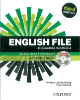 English File Intermediate 3.vydání Multipack A with online skills