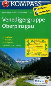 Venedigergruppe, Oberpinzgau - mapa Kompass č.38 - 1:50t /Rakousko,Itálie/