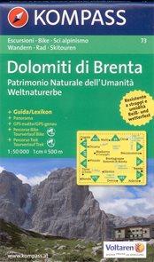 Dolomiti di Brenta - mapa Kompass č.73 - 1:50 000 /Itálie/