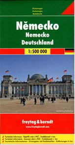 Německo - mapa Freytag - 1:500 000