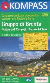 Gruppo di Brenta, Madonna di Campiglio, Andalo, Molveno - mapa Kompass č.688 - 1:25t /Itálie/