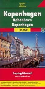 Kodaň - plán Freytag - 1:15 000 /Dánsko/