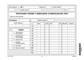 01S- Vyúčtování výkonů v ambulantní stomatologické péči