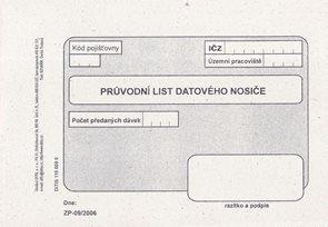 09- Průvodní list diskety - datového nosiče
