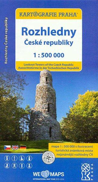 Rozhledny České republiky 1:500 000 - 12x23 cm