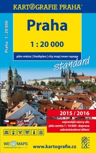 Praha - knižní atlas města 2015/2016, 1 : 20 000 - 12x21 cm