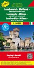 Cyklomapa Lombardie, Milánsko 1:150 000