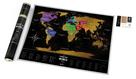 Stírací mapa světa  - Black World