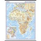 Afrika - nástěnná zeměpisná mapa 1:10 mil.