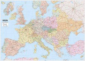 EVROPA SILNIČNÍ - Nástěnná mapa  1 : 3,6 mil.