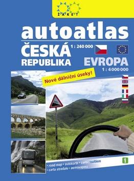 Autoatlas ČR 1:240 000 + Evropa 1:4 000 000 - 24x30 cm